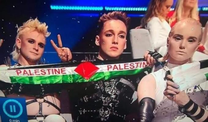 """غزة وعلم فلسطين حاضران بقوة في نهائي """"يوروفيجن"""""""